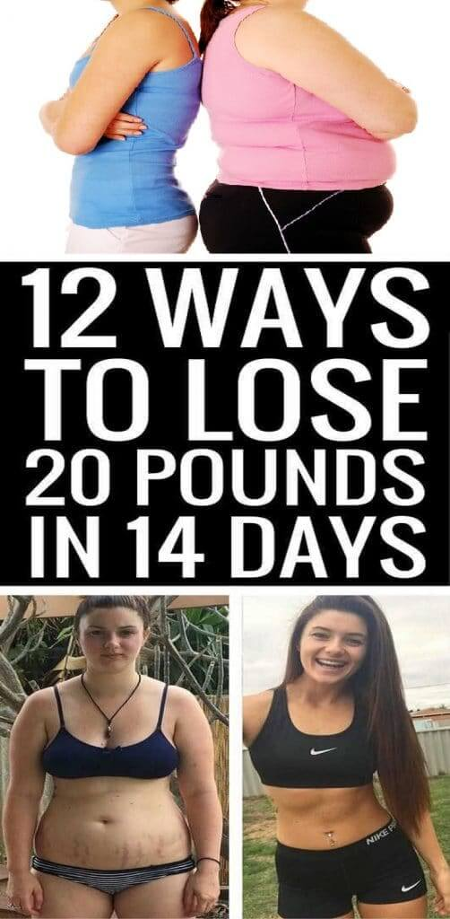 best ways to lose 20 pounds in 14 days