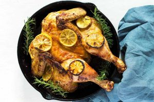 Butterflied Lemon Roast Chicken