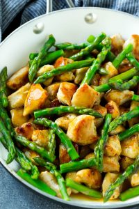 Chicken, Broccoli, and Asparagus Stir Fry