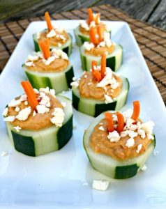 Cucumber Circles With Hummus