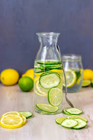 Cucumber lemon infused drink