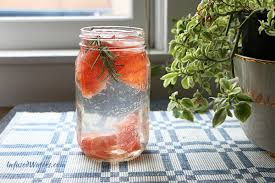 Grapefruit rosemary-infused water