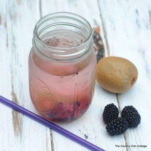 Kiwi blackberry infused water