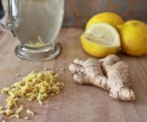 Lemon ginger-infused water