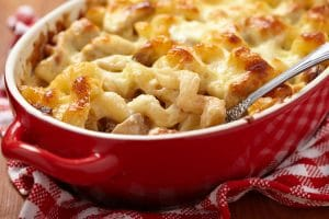 Mac & Cheese with Chicken and Mushrooms