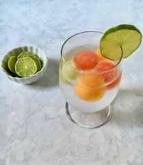 Melon ball infused drink