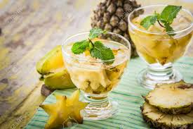 Pineapple star fruit water
