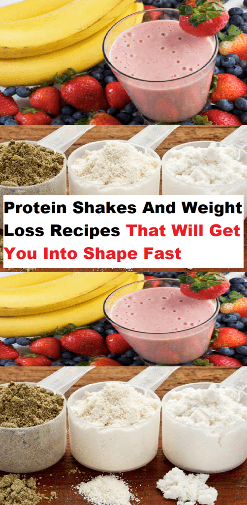 protein shakes for weight loss recipes