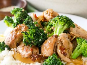 Quick Chicken Strips with Broccoli Supper