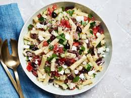 Greek Pasta Salad With Almond Feta