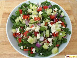 salad recipe spinach